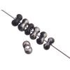 Bow Beads (Farfalle) 3.2x6.5mm Black Chrome Opaque